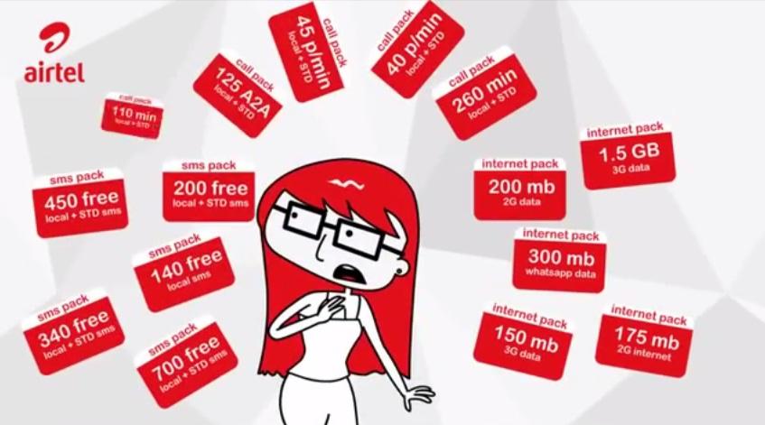 Airtel Prepaid customer care number 5